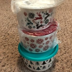 Tupperware Holiday Canisters NWT